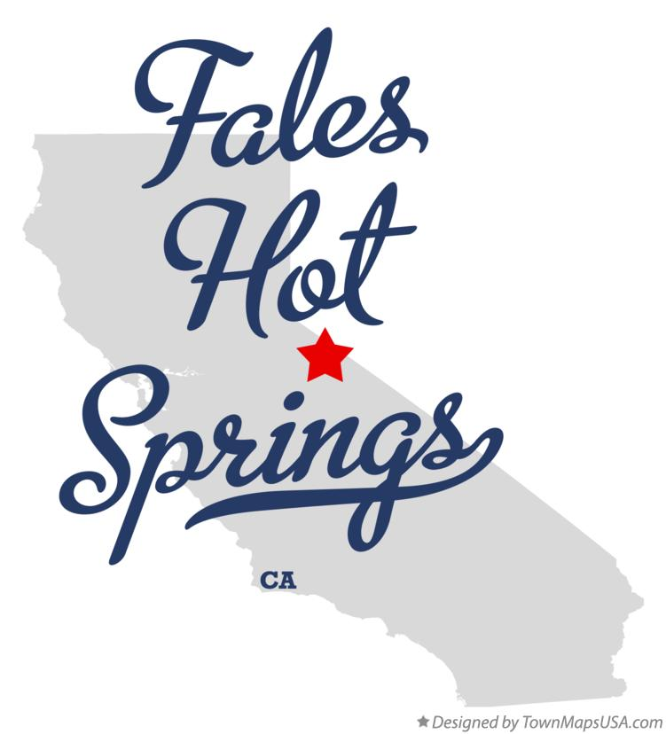 Map of Fales Hot Springs California CA