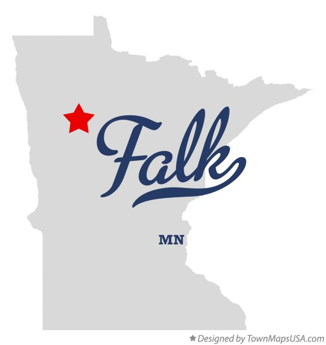 Map of Falk Minnesota MN