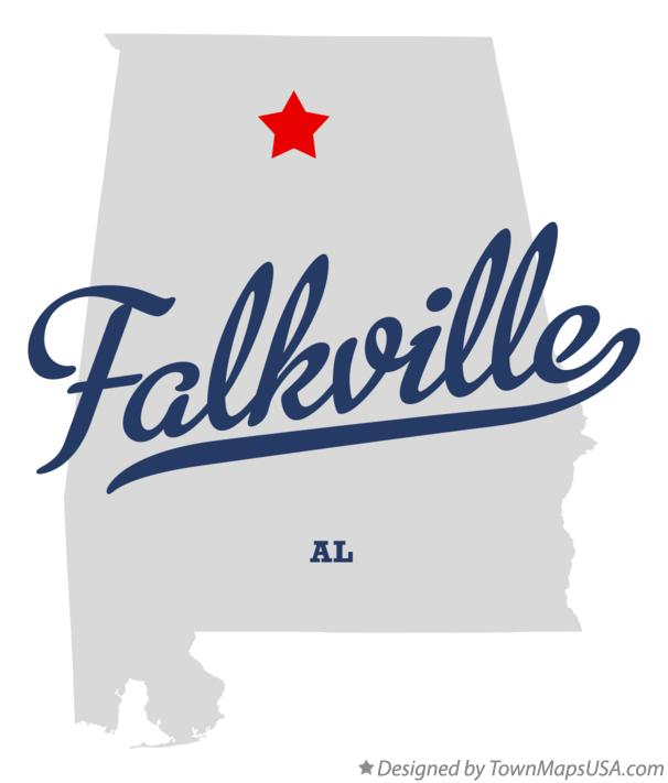 Map of Falkville Alabama AL