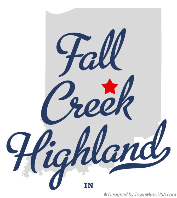 Map of Fall Creek Highland Indiana IN