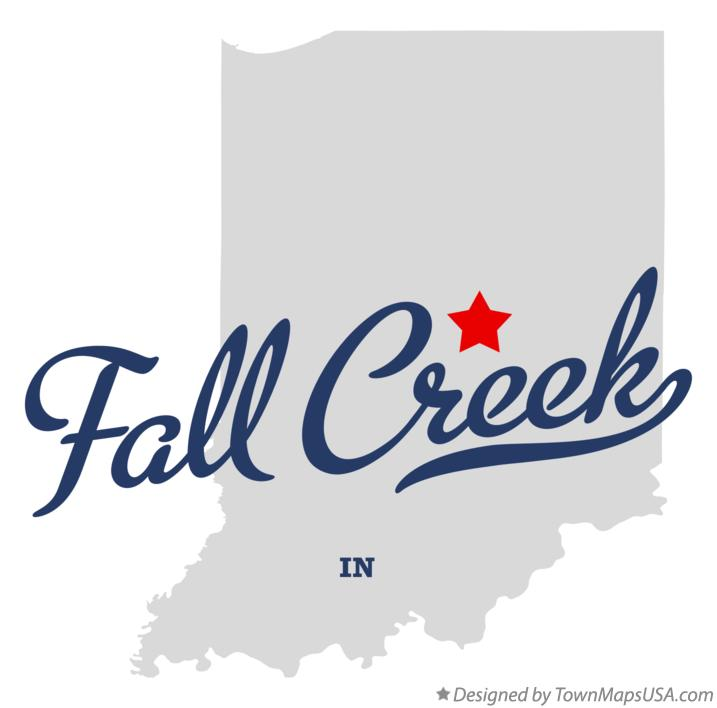 Map of Fall Creek Indiana IN