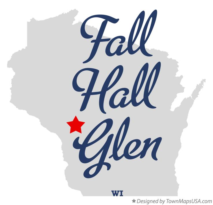 Map of Fall Hall Glen Wisconsin WI