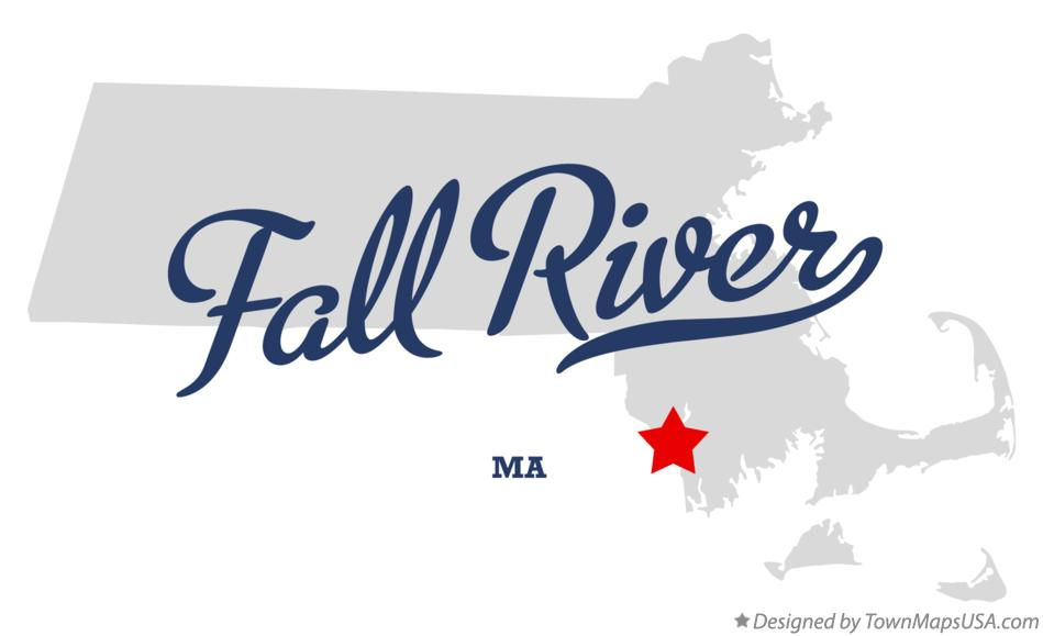 Map of Fall River Massachusetts MA