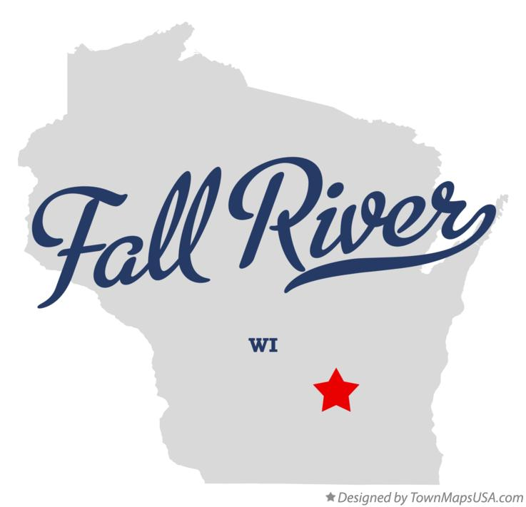 Map of Fall River Wisconsin WI