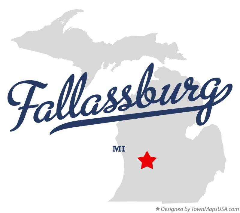 Map of Fallassburg Michigan MI