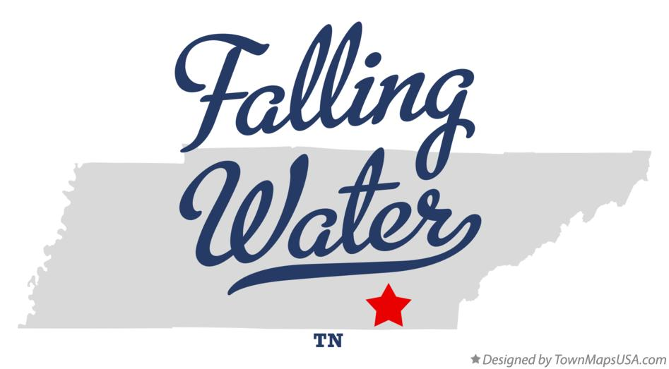 Map of Falling Water Tennessee TN