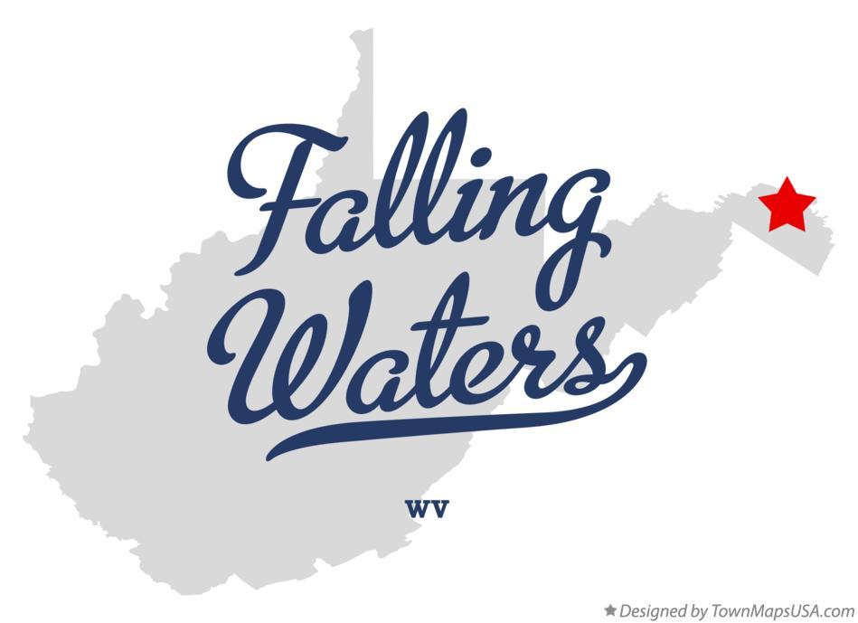 Map of Falling Waters West Virginia WV
