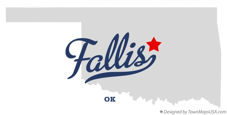 Map of Fallis Oklahoma OK