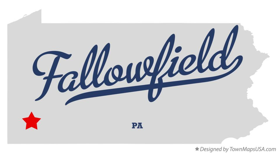Map of Fallowfield Pennsylvania PA