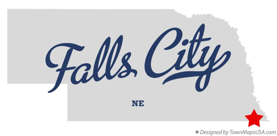 Map of Falls City Nebraska NE