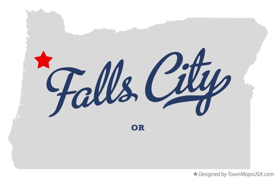 Fall City Oregon Map.Map Of Falls City Or Oregon