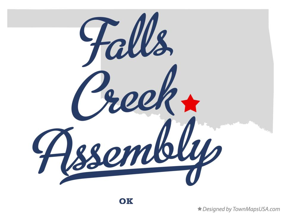 Map of Falls Creek Assembly Oklahoma OK