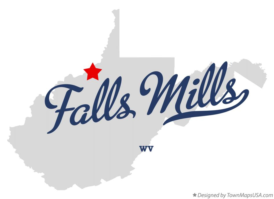 Map of Falls Mills West Virginia WV
