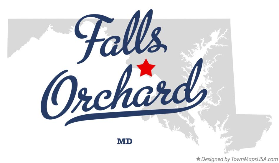 Map of Falls Orchard Maryland MD