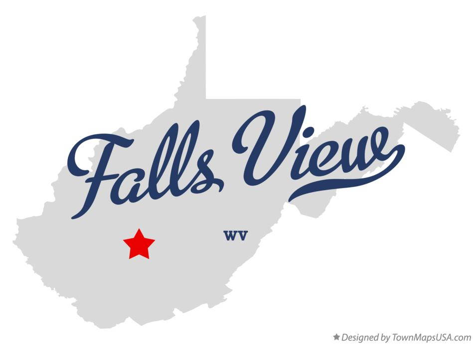 Map of Falls View West Virginia WV