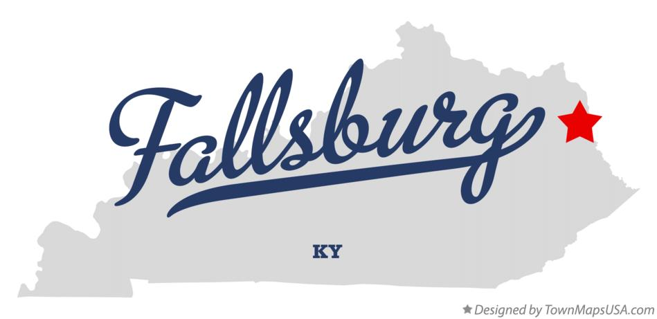 Map of Fallsburg Kentucky KY