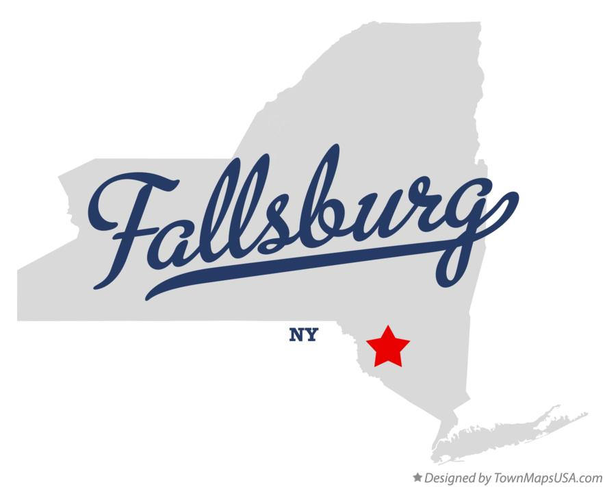 Map of Fallsburg New York NY