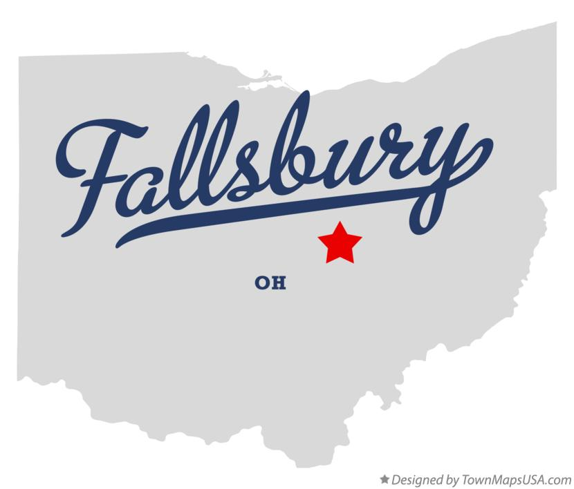 Map of Fallsbury Ohio OH