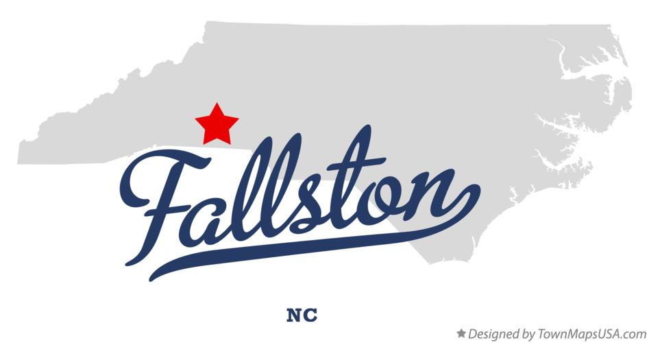 Map of Fallston North Carolina NC