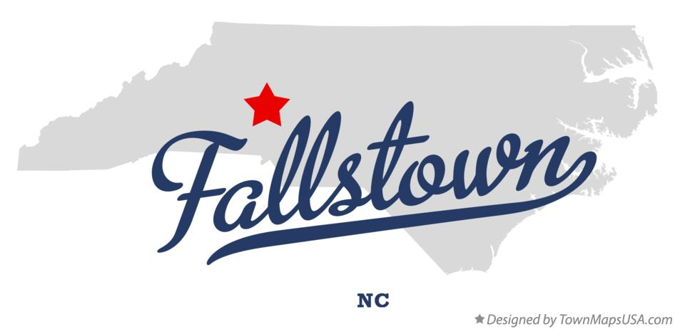 Map of Fallstown North Carolina NC