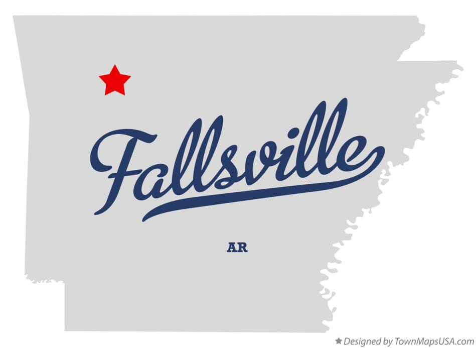 Map of Fallsville Arkansas AR