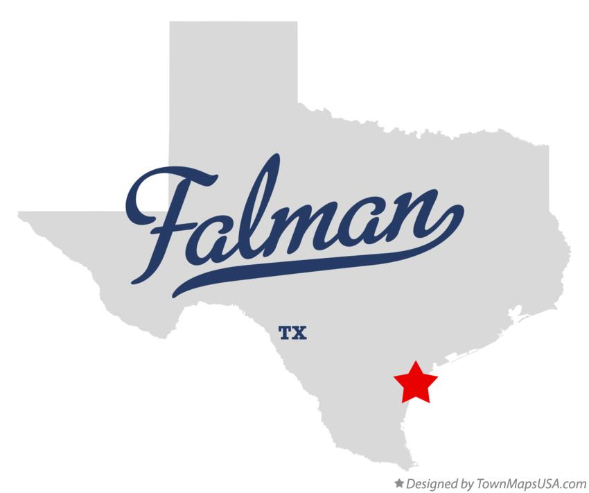 Map of Falman Texas TX