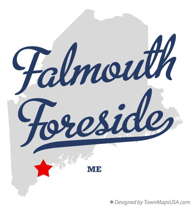 Map of Falmouth Foreside Maine ME
