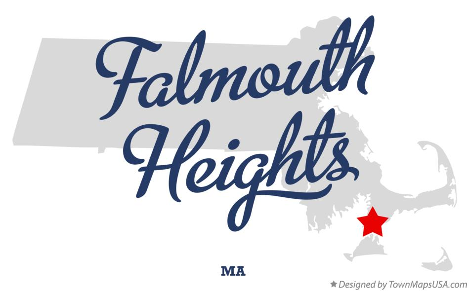 Map of Falmouth Heights Massachusetts MA