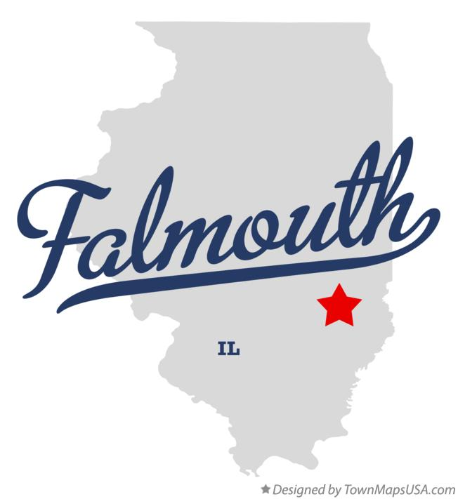 Map of Falmouth Illinois IL