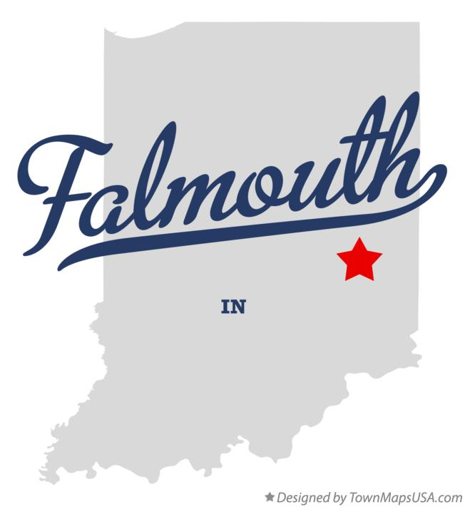 Map of Falmouth Indiana IN
