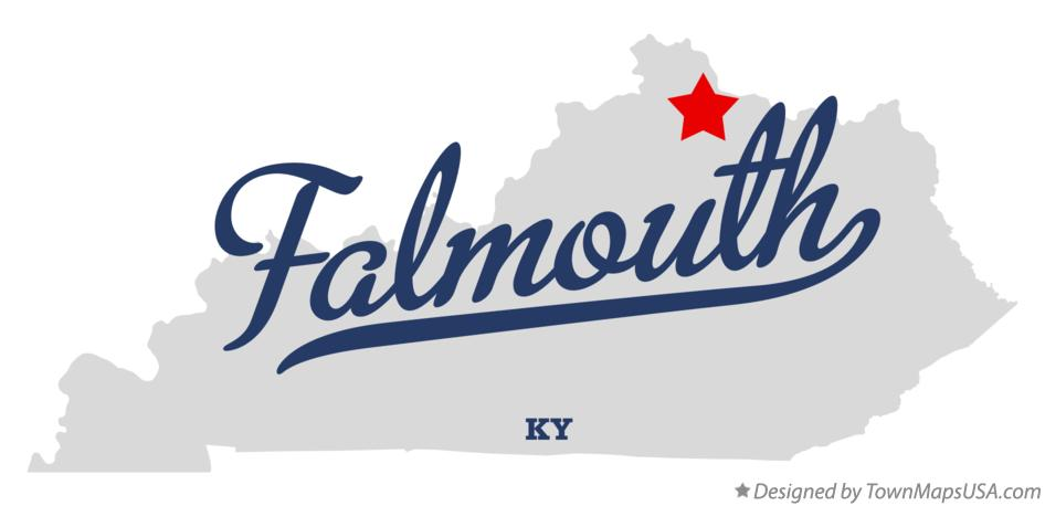 Map of Falmouth Kentucky KY