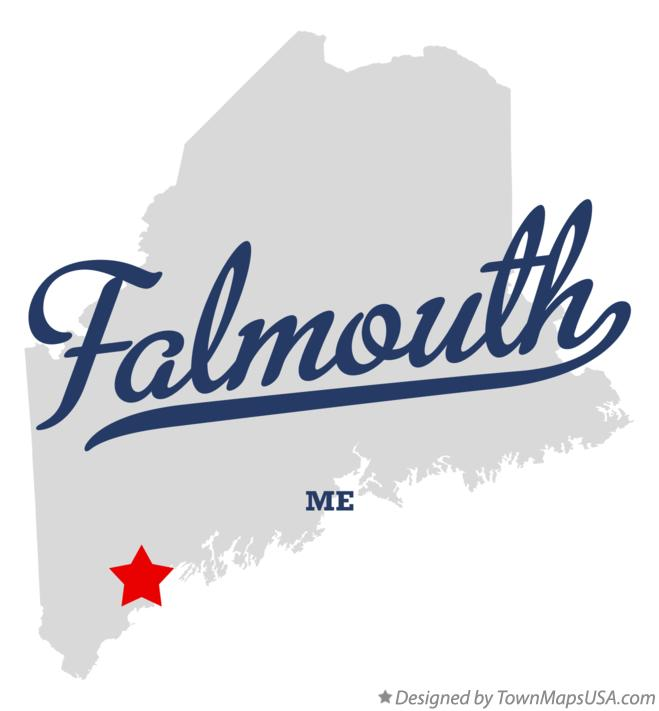 Map of Falmouth Maine ME