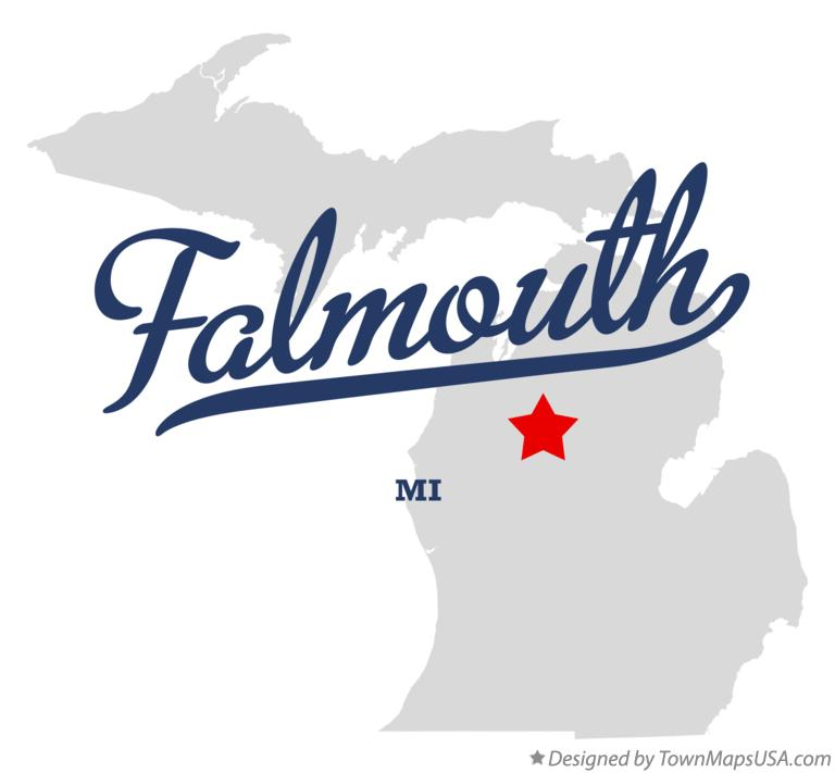 Map of Falmouth Michigan MI