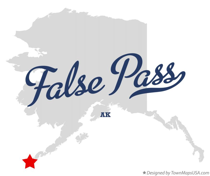 Map of False Pass Alaska AK