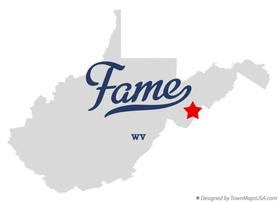 Map of Fame West Virginia WV