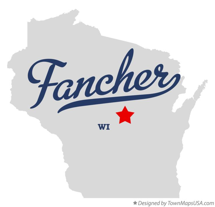 Map of Fancher Wisconsin WI