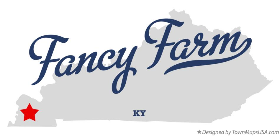 Map of Fancy Farm Kentucky KY