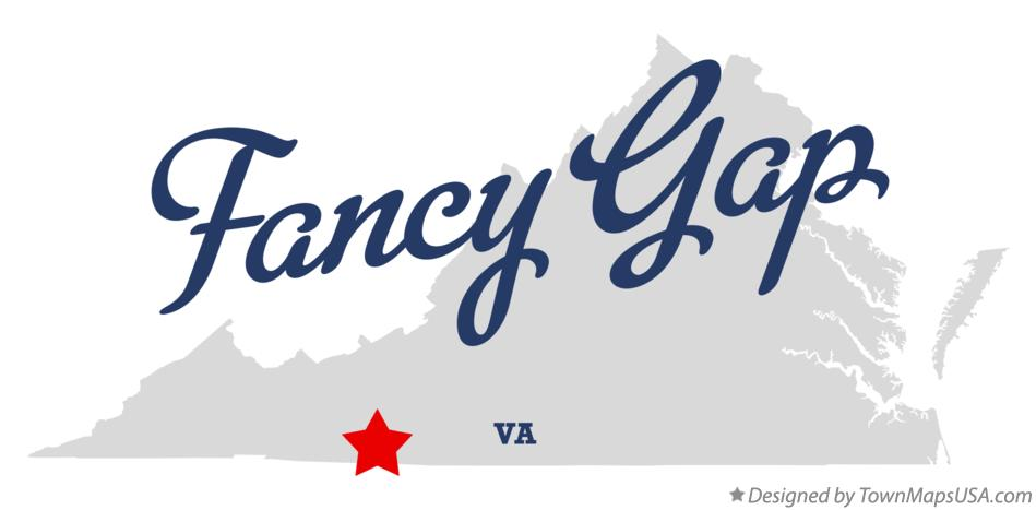 Map of Fancy Gap Virginia VA