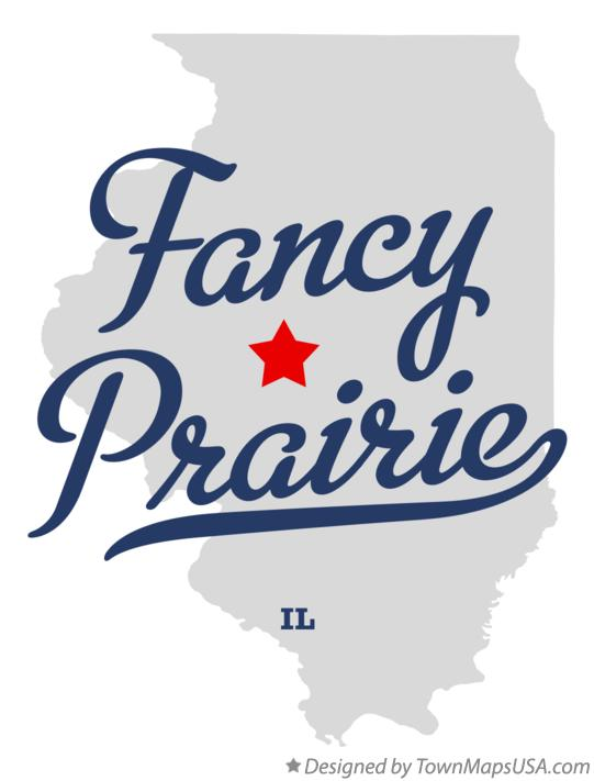 Map of Fancy Prairie Illinois IL