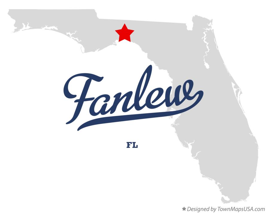 Map of Fanlew Florida FL