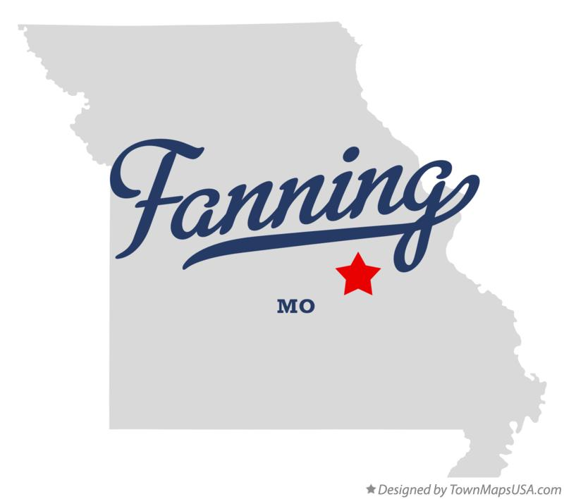 Map of Fanning Missouri MO