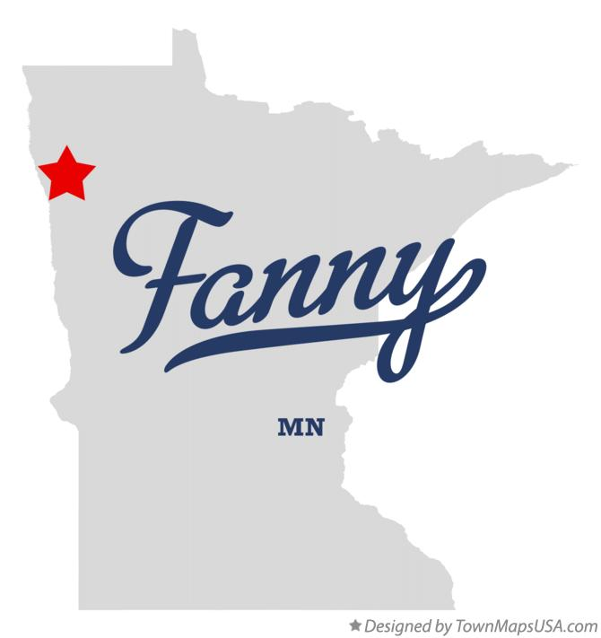 Map of Fanny Minnesota MN