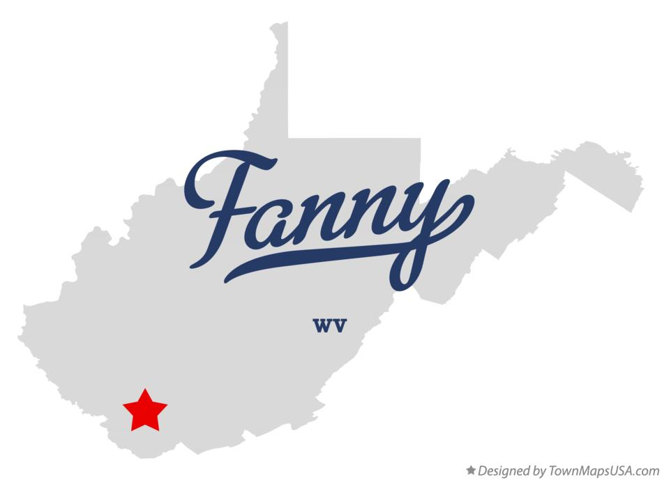 Map of Fanny West Virginia WV