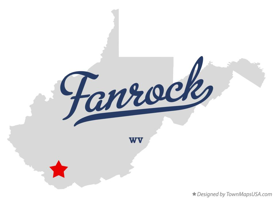 Map of Fanrock West Virginia WV