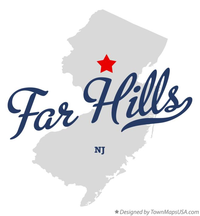 Map of Far Hills New Jersey NJ