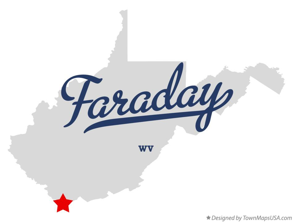 Map of Faraday West Virginia WV