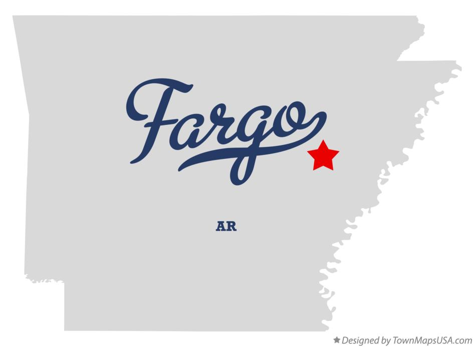 Map of Fargo Arkansas AR