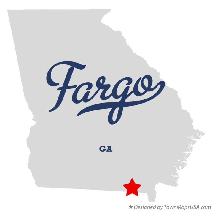 Map of Fargo Georgia GA