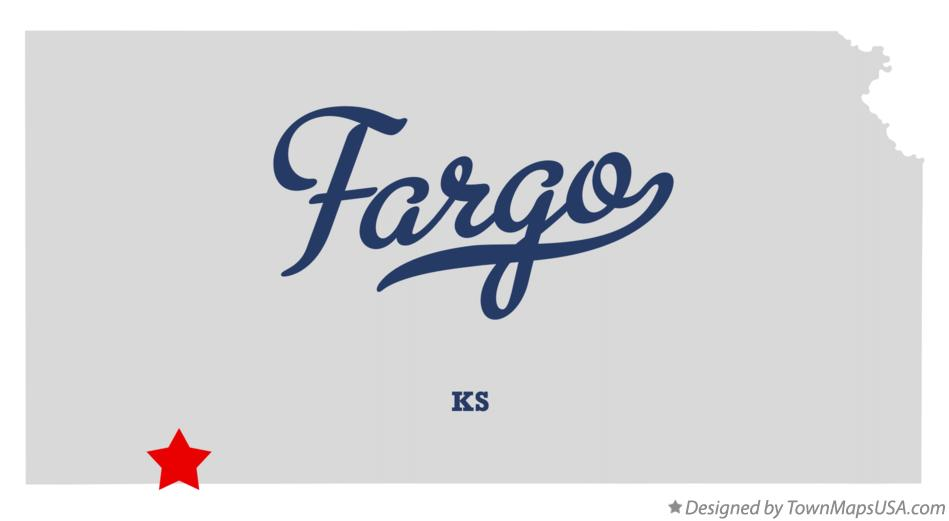 Map of Fargo Kansas KS