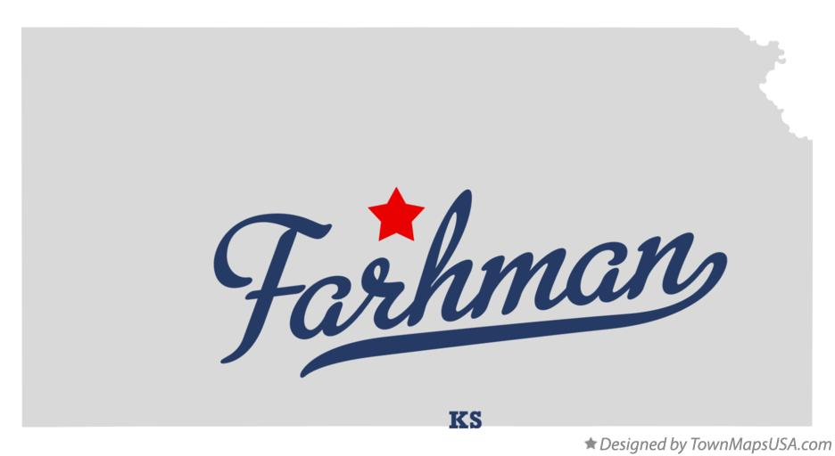 Map of Farhman Kansas KS